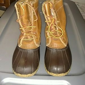LL Bean Leather/Rubber Duck Boots Size 7M